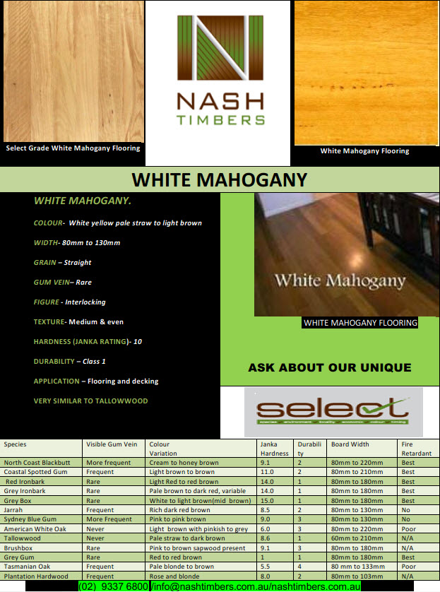 White mahogany TN