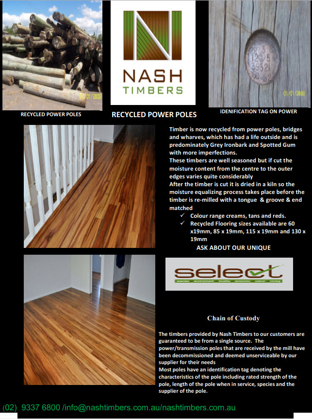 recycled power poles floor tn